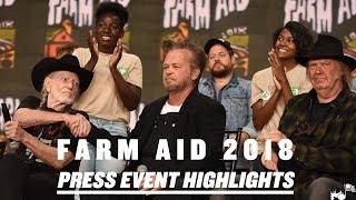 Farm Aid 2018 Press Event Highlights