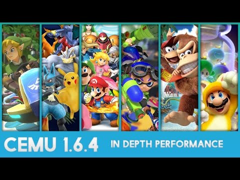 Cemu 1,6,4 - In Depth Performance and Visuals of 12 Wii U Games!