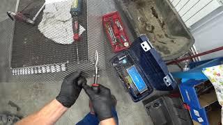 Camry 50. Установка сетки в нижню часть бампера.