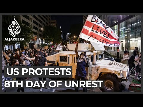 George Floyd: Mass protests continue to erupt across the US - Live updates