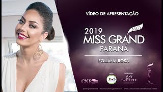 Poliana Rosa Miss Grand Parana 2019 Presentation Video