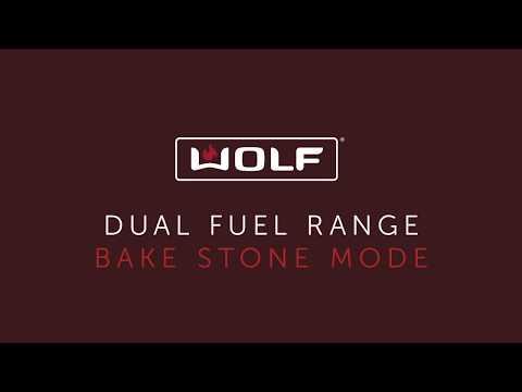 Wolf Dual Fuel Range - Bake Stone Mode