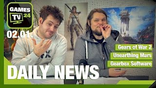 Gears of War 2 vom Index, Unearthing Mars, Carrie Fisher | Games TV 24 Daily