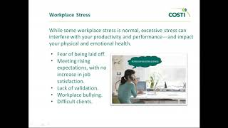 Workplace Stress and Self Care