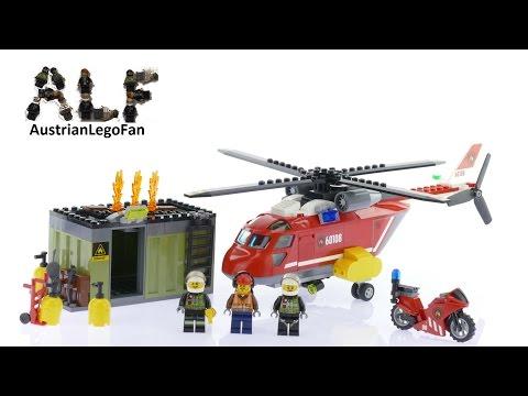 Vidéo LEGO City 60108 : L'unité de secours des pompiers