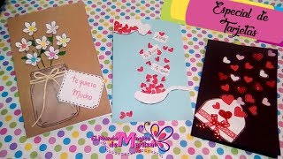 3 Tarjetas Fáciles/ 💕Amor Y Amistad💕 San Valentin Ideas DIY 💕