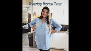Country Home Tour | Decorating My Small Farmhouse On A Budget! | Living Room & Kitchen
