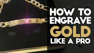 How to Engrave GOLD with a FIBER LASER