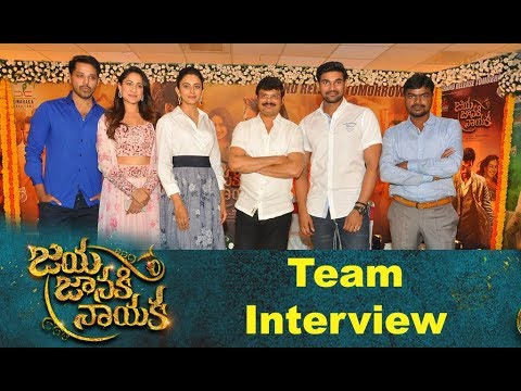 Jaya Janaki Nayaka Team Press Meet