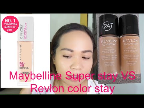 Revlon Color stay VS Maybelline Super stay foundation 2019 | ANNETTE PAULIN|