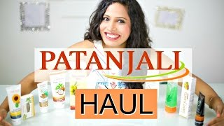 PATANJALI Review and Haul   Skincare and Haircare   ShrutiArjunAnand