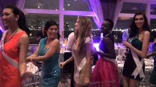Miss Universe 2014 contestants at the Best Buddies dinner at Rusty Pelican