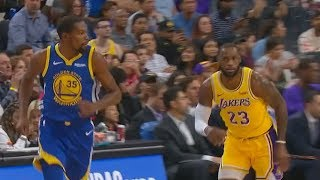 Kevin Durant Shows LeBron James His Pull Up Jump Shot Can