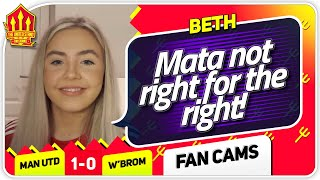 BETH! NO MORE MATA! Manchester United 1-0 West Brom Fan Cam