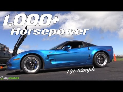 1000+ HP Chevrolet Corvette ZR1 Grabs LS9 Top Speed Record ...