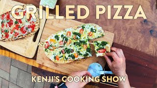 How To Grill Pizza   Kenjis Cooking Show