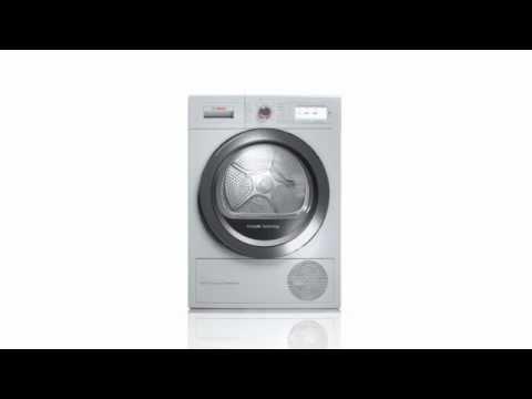 Bosch Freestanding Condenser Tumble Dryer Heat Pump WTWH7660GB - White Video 1