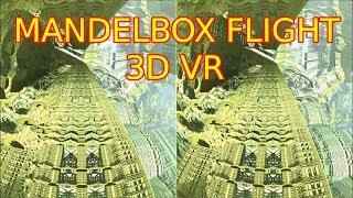 Mandelbox VR flight - speed up from 1 to 5000 km/h