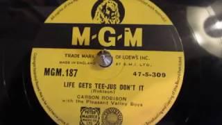 Life Gets Teejus, Don't It - Carson Robison - Monologue - 78 rpm - Numark TTX