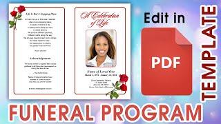 Editable PDF Funeral Program Templates