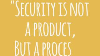 Security is not a product...