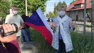 Protest na granicy PL-CZ Chałupki – Rudyszwałd – Silherovice 22.05.2020
