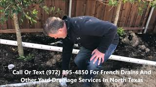 French Drain Contractor In McKinney And Collin And Grayson County