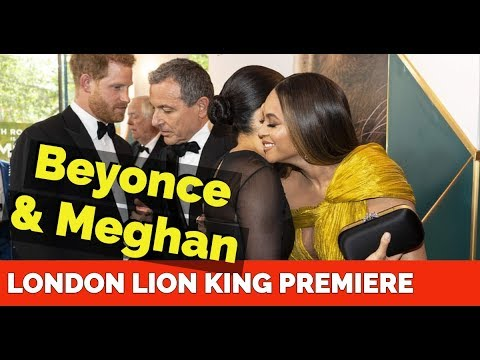 Beyonce & Meghan Markle - The Lion King Premiere Prince Harry n Jay Z