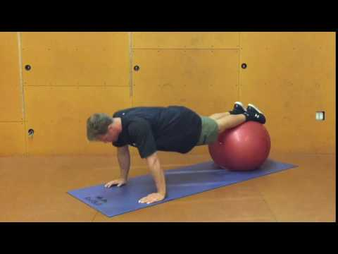 Stability Ball Atomic Pushup