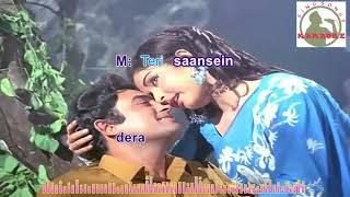 tere hothon ke do phool Hindi karaoke for Male   - YouTube