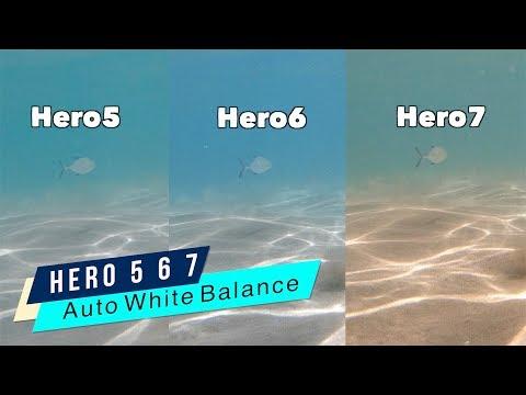 GoPro Hero5 Hero6 Hero7 Underwater Auto White Balance Comparison - GoPro Tip #644   MicBergsma