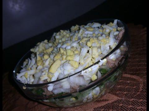 Очень вкусный салат с тунцом