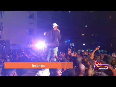 Teephlow performs at the Joy FM Open House Party at UPSA
