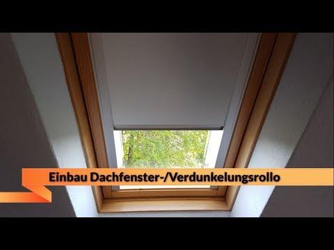 Dachfensterrollo / Verdunkelungsrollo | Einbau ganz einfach