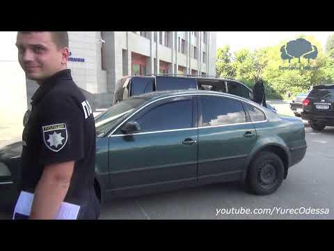 Пьяные мусора Бернатович и Гапоненко куролесят на машине по Одессе