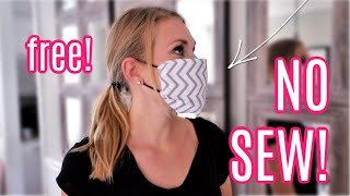 DIY *NO SEW* FACE MASKS! (free and easy!)
