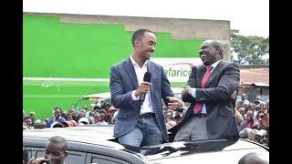 Uhuru Kenyatta's son Muhoho Kenyatta reads speech from a phone