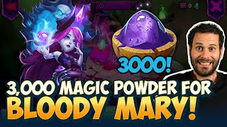 3000 Magic Powder For Bloody Mary WOW Castle Clash