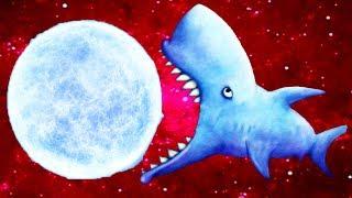 Tasty Blue #10 ЗУБАСТАЯ АКУЛА СЪЕЛА ПЛАНЕТУ Игровой мультик Бонус голодной рыбки от КИДА #КРУТИЛКИНЫ