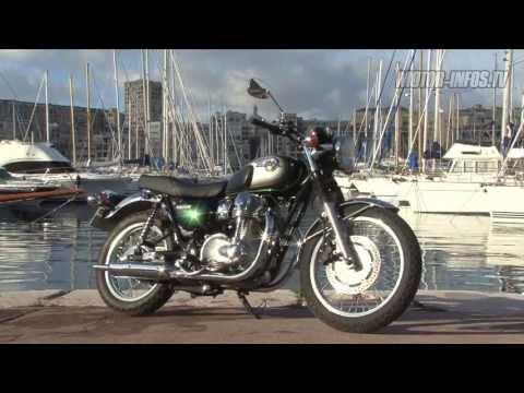 Essai Kawasaki W800 фильмы Custom Bikecom
