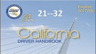California Driver Handbook | Audiobook.....(REAL VOICE)...DMV.....21--32