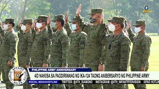 4ID nakiisa sa pagdiriwang ng ika-124 taong anibersaryo ng Philippine Army