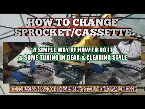 How to change SPROCKET or CASSETTE in bicycle / road bike | TUNING GEAR | tips ni PaR