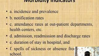 Health Indicators Morbidity & Mortality Statistics