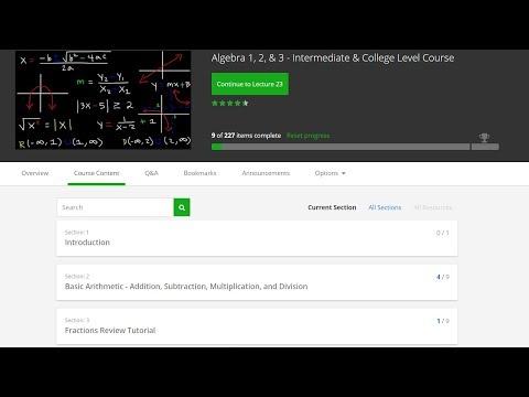 Algebra 1 & 2 Review, Online Course Lessons & Video Quizzes, Basic Introduction