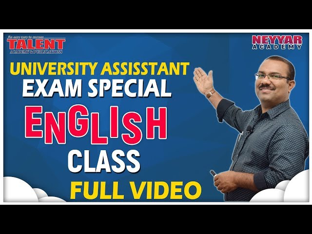 University Assistant English Special Class   Full video
