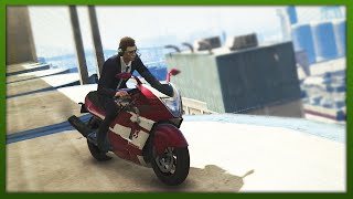 GTA 5 Stunts - Epic Double Stunt! - (GTA V Stunts & Fails)