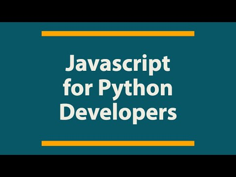Javascript for Python Developers | Basic stuff #Part 1