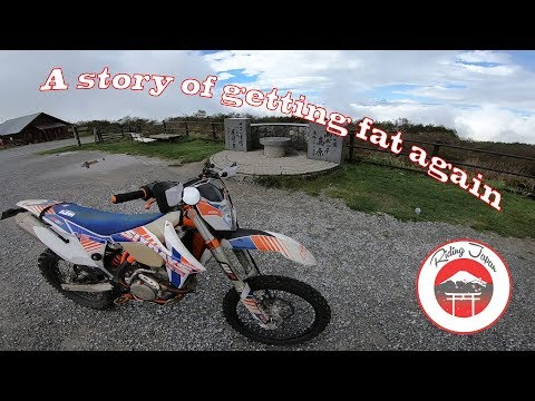 Practicing riding on a mountain top, a story of getting fat again, a KTM adventure