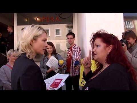 Prostitution: Protestaktion gegen Familienministerin Schwesig in Nürnberg